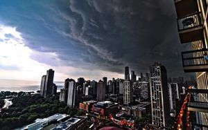 Superb City Storm Clouds Full