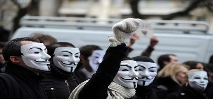 Manif Anonymous 14 01 2014
