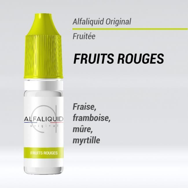 Lot De 10 E Liquid Alfaliquid Fruits Rouges 595