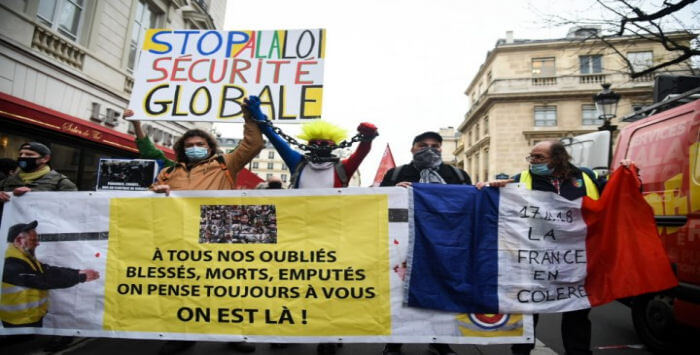 Manif Securite Globale 17 11 2020